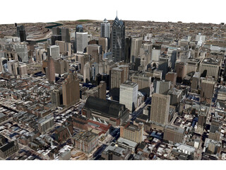 Philadelphia City 3D Model
