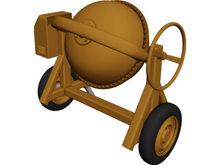 Cement Mixer 3D Model 3D Preview