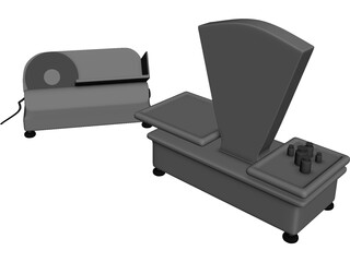 Roman Scales and Electrical Ham-Cutter 3D Model