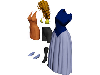 Woman Clothes 3D Model