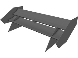 Formula Student Rear Wing CAD 3D Model