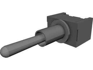 Toggle Switch CAD 3D Model