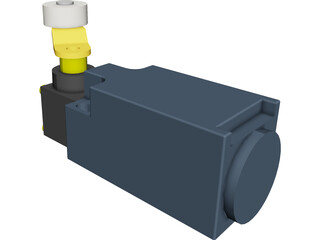Roller Contact Switch CAD 3D Model