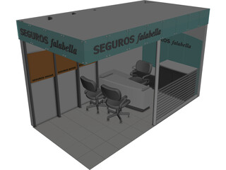 Retail Office 3D Model
