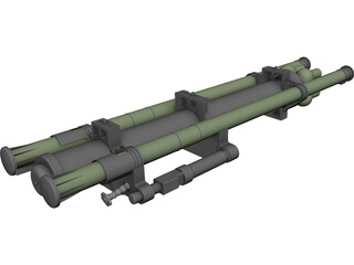 Strelets Missile Launcher 3D Model