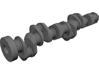 Crankshaft Cummins Diesel 3D Model