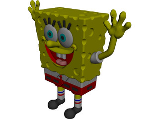 Sponge Bob Square Pants CAD 3D Model