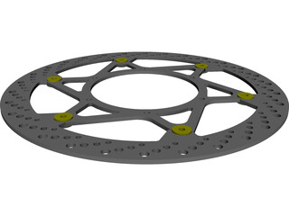 Magura Disc 320mm Complete Right Side CAD 3D Model