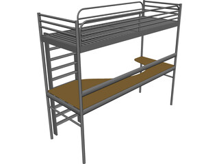 Endo Bed and Desk 3D Model