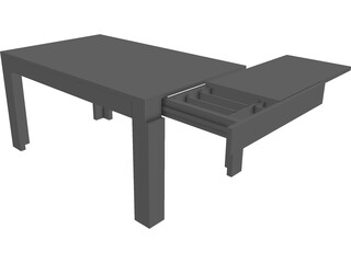 Table CAD 3D Model