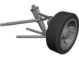 Racing Suspension 3D Model