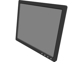 19inch LCD Monitor CAD 3D Model