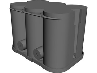 Optima Battery CAD 3D Model