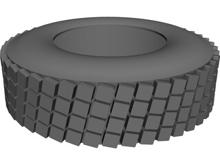 Wheel Tire CAD 3D Model