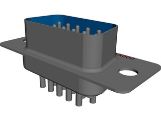 D-Sub 9 Connector CAD 3D Model