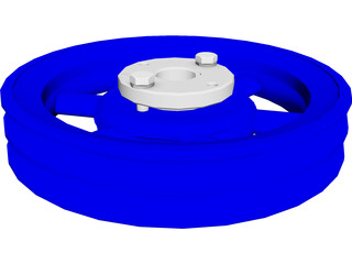 Pulley of 7.2 Inches Diameter CAD 3D Model
