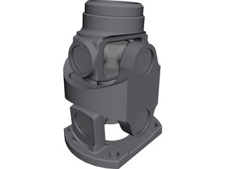 Doble Cardan Joint CAD 3D Model