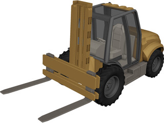 Forklift Heavy Duty Industrial 3D Model