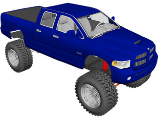 Dodge Ram 4x4 (2005) [Lifted] 3D Model 3D Preview