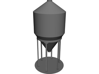 Grain Bin 12` CAD 3D Model