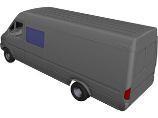 Mercedes-Benz Sprinter CAD 3D Model