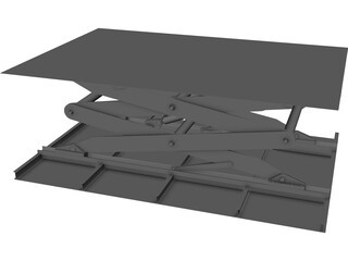 Lift Table CAD 3D Model