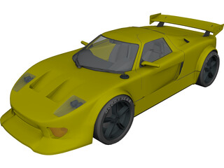 Ford GT 40 [Tuned] 3D Model