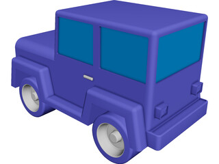 Jeep Toy CAD 3D Model
