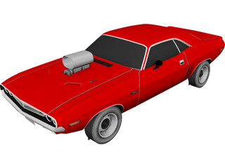 Dodge Challenger 383 Magnum 3D Model