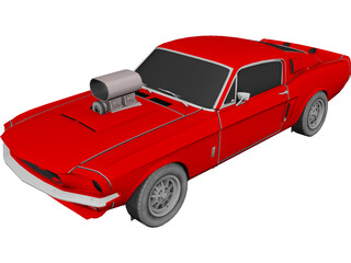 Ford Mustang Shelby Cobra G.T.500 3D Model