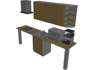 Kitchen Lineal 3D Model
