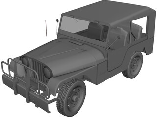 Jeep Willys CJ5 3D Model
