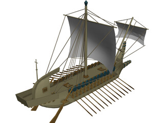 Greek Ship 3D Model