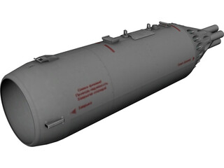UB-32-73A 57mm Rocket Pod 3D Model