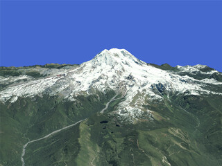Mount Rainier (USA) 3D Model
