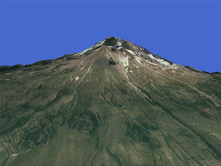 Mount Shasta (USA) 3D Model