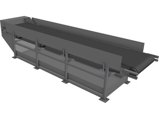 Conveyor Belt 5m CAD 3D Model