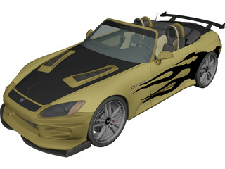 Honda S2000 [Tuned] 3D Model 3D Preview