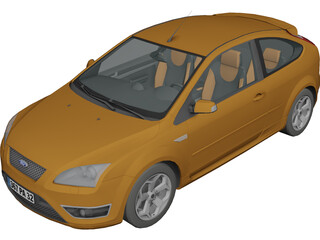 Ford Focus ST 3D Model