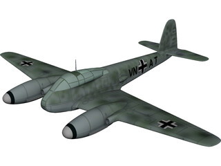 Messerschmitt Me 410 Hornisse (Hornet) 3D Model