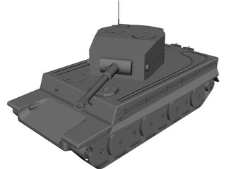 German Tank T2 CAD 3D Model