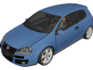 Volkswagen Golf GTi 3D Model