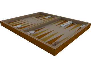 Backgammon Game 3D Model