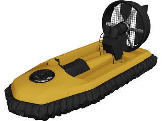 Hovercraft 3D Model 3D Preview