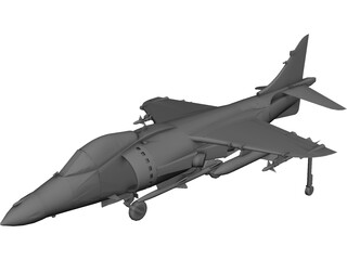 AV-8B Harrier II CAD 3D Model