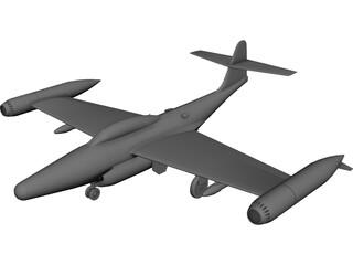 Northrop F-89 Scorpion 3D Model