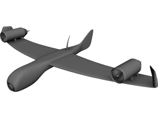 Differential Turbofan UAV Concept 2A7-XP 3D Model