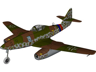 Messerschmidt Me-262-A1 3D Model