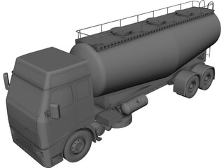 Volvo Cement Truck CAD 3D Model