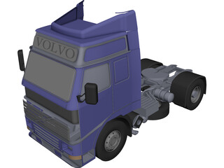 Volvo Truck 3D Model 3D Preview